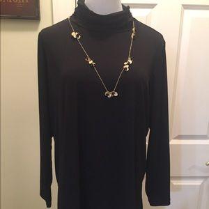 Susan Graver scrunched neck turtle neck tunic